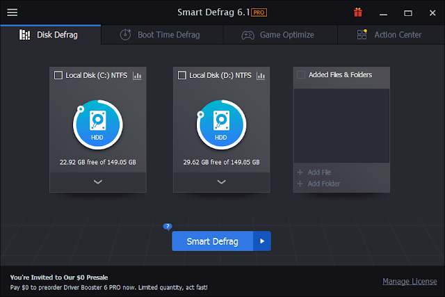 IObit Smart Defrag PRO full crack