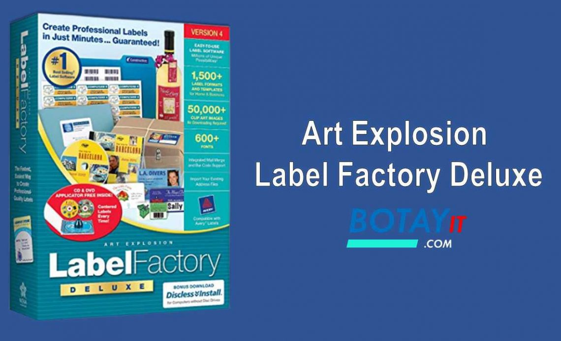 download Art Explosion Label Factory Deluxe 2019 crack
