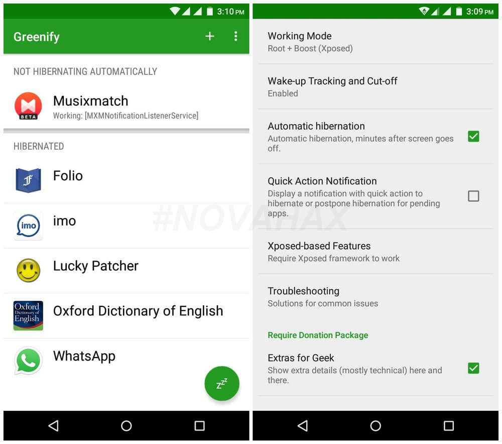Download Greenify Donate Full Mod APK v4.3.3