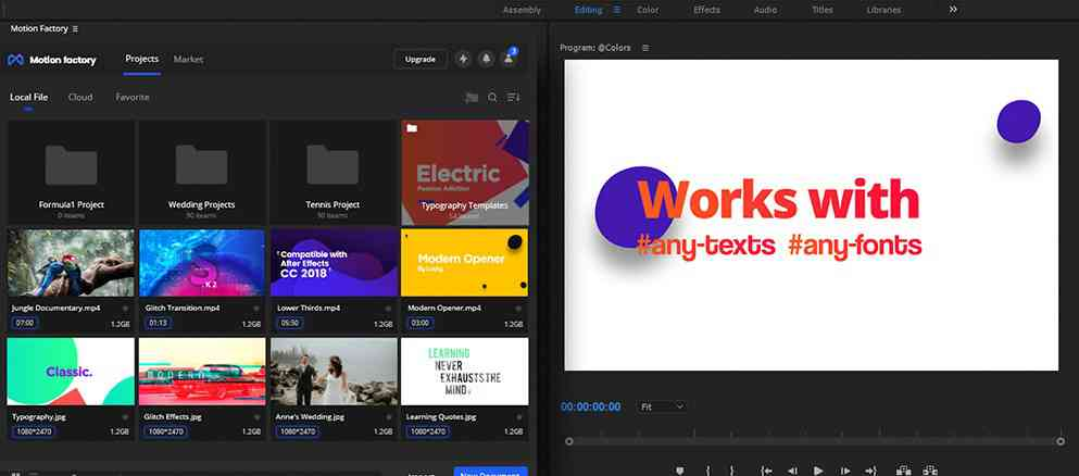 download Motion Factory for After Effects/Premiere Pro