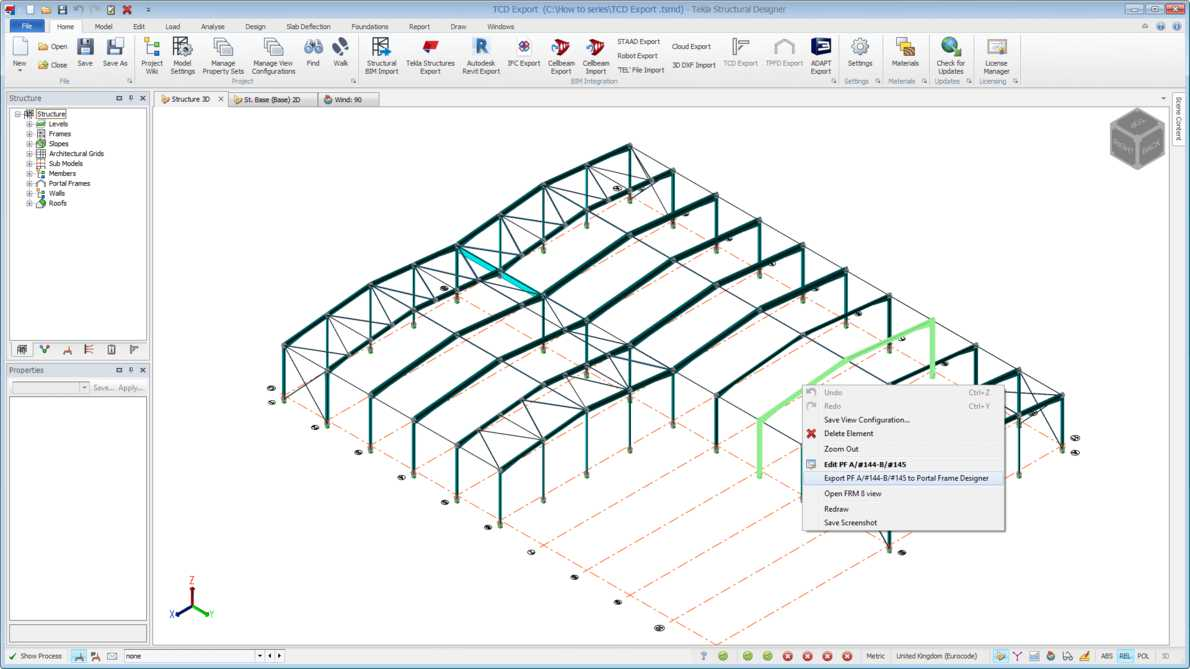 Trimble Tekla Portal Frame & Connection Designer 2019