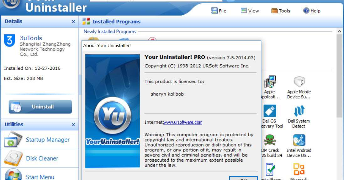 download Your Uninstaller Pro 7.5.2 - Công cụ gỡ ứng dụng