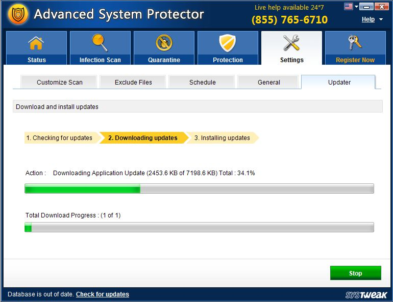 share key Advanced System Protector 2.3.1