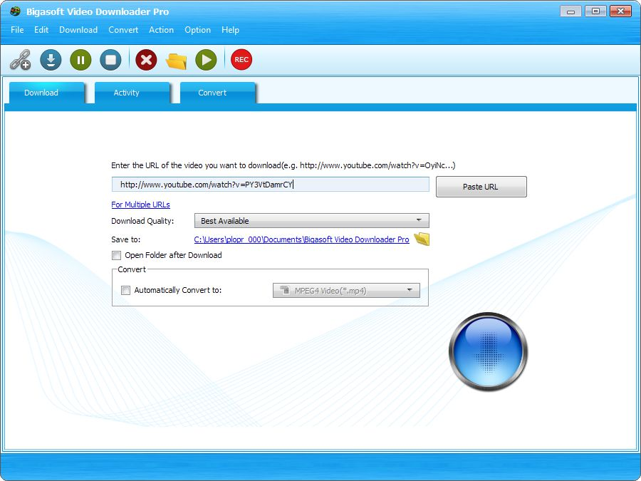tải về Bigasoft Video Downloader Pro