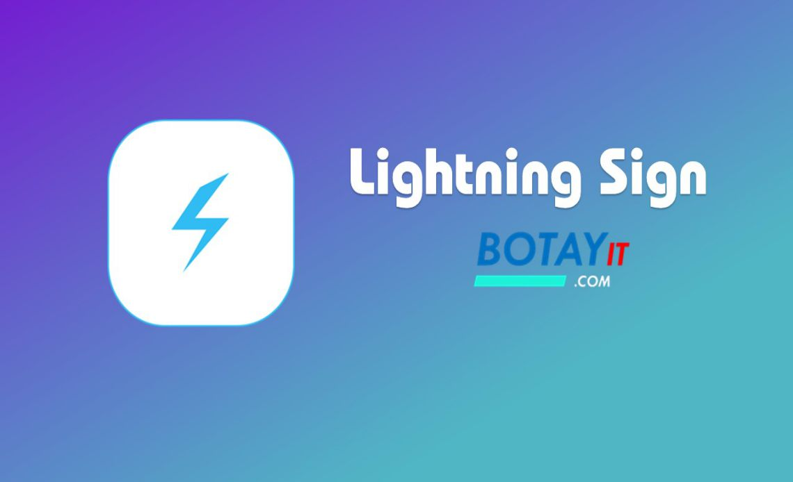 tai ung Lightning Sign cho ios