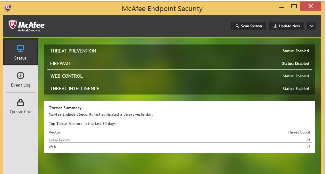 cài đặt McAfee Endpoint Security